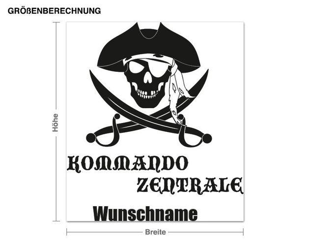 Wunschtext-Wandtattoo Kommandozentrale