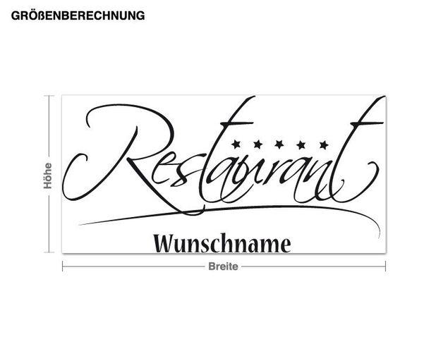 Wunschtext-Wandtattoo Restaurant