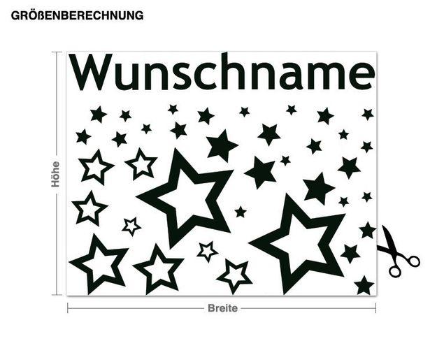 Wunschtext-Wandtattoo Sternstunde
