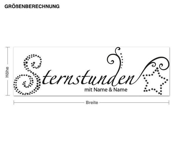 Wunschtext-Wandtattoo Sternstunden