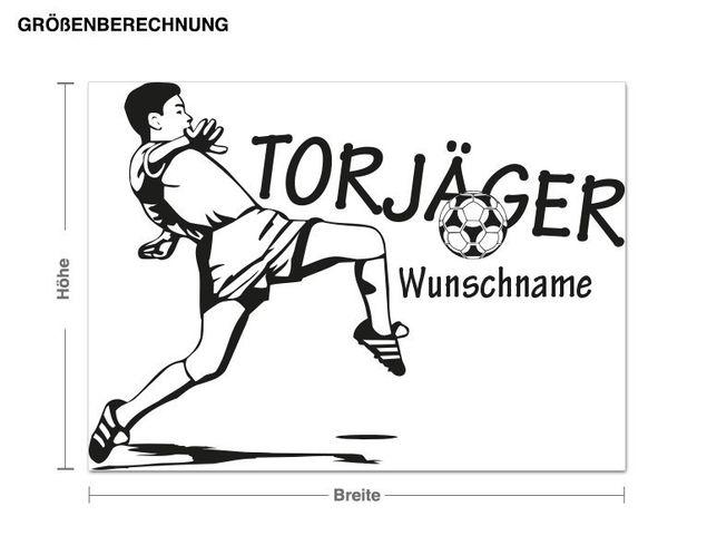Wunschtext-Wandtattoo Torjäger
