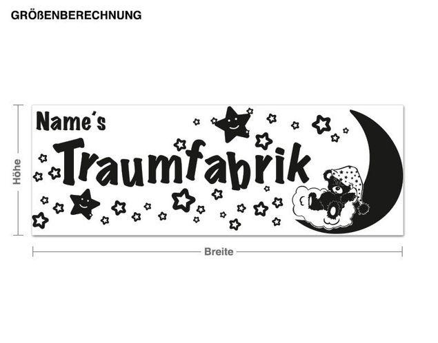 Wunschtext-Wandtattoo Traumfabrik