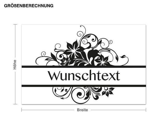 Wunschtext-Wandtattoo Wellness Wunschtext
