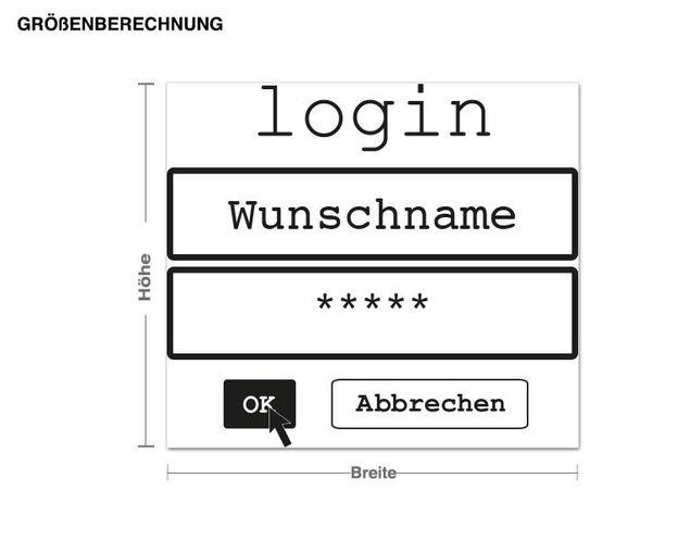 Wunschtext-Wandtattoo Wunschname Login