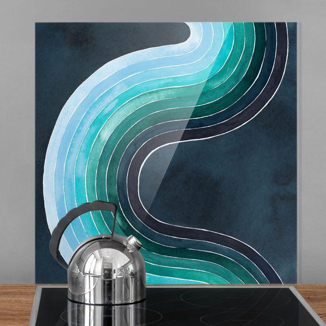 Spritzschutz Glas - Zeitenströmung - Quadrat 1:1